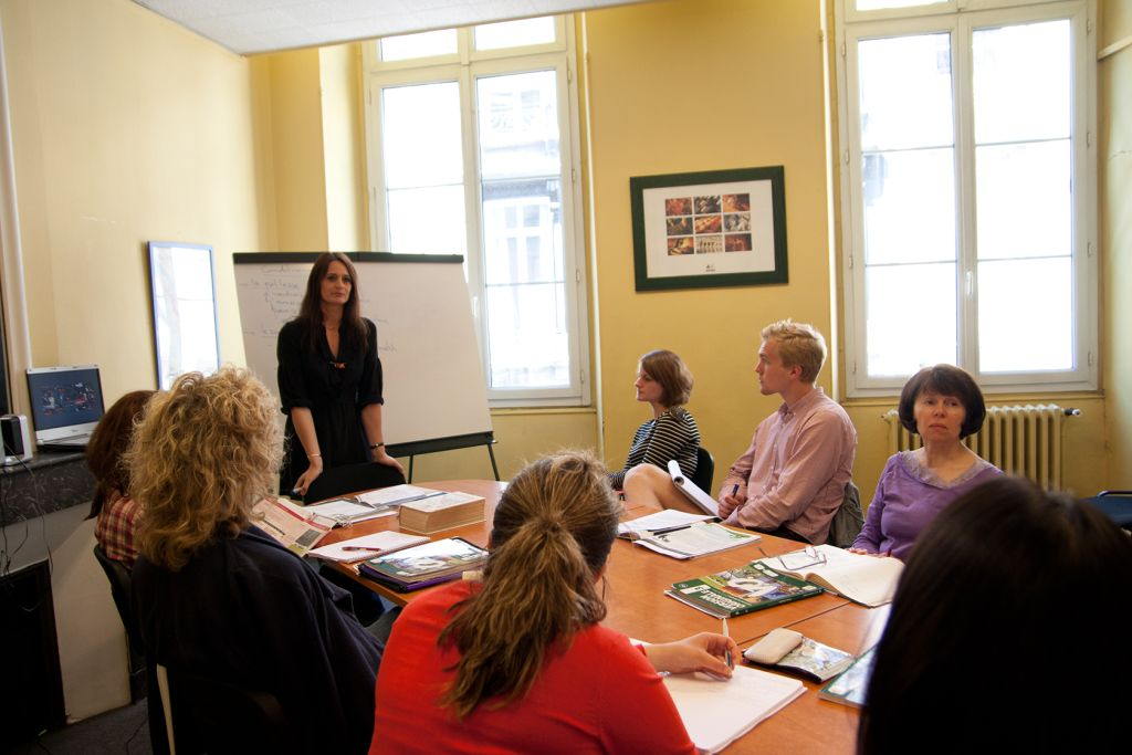Klassenzimmer der Sprachschule in Bordeaux