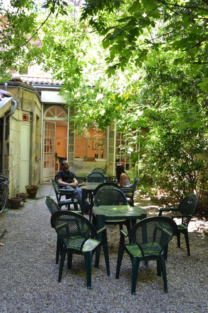 Der Garten der Sprachschule in Bordeaux