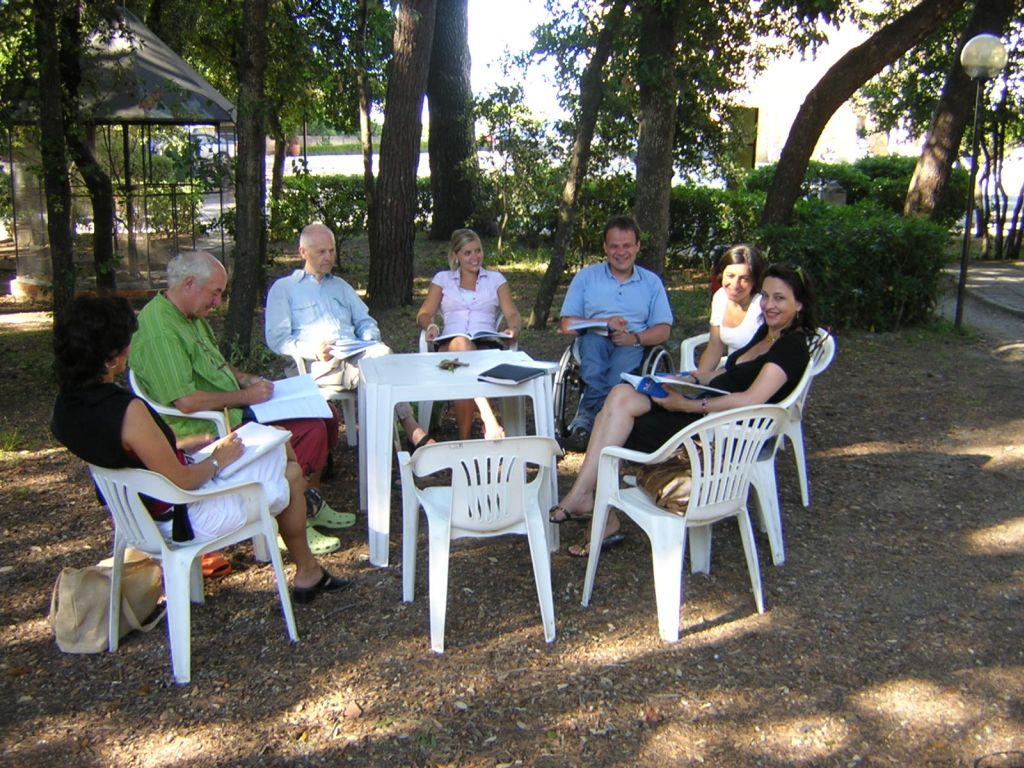 Studenten der Sprachschule in Castiglioncello