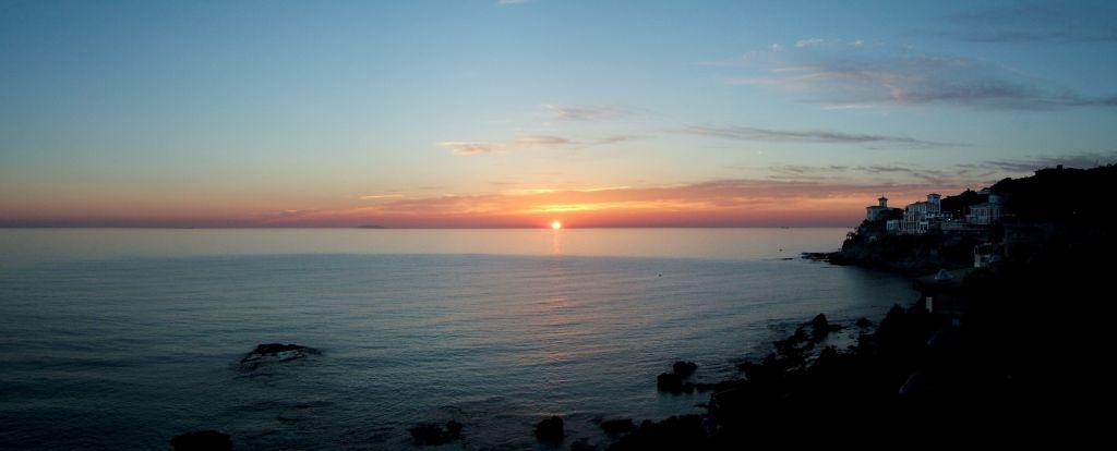 Der Sonnenuntergang in Castiglioncello - Italienisch Sprachreise