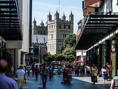 Princesshay - Exeter, Englisch lernen in England