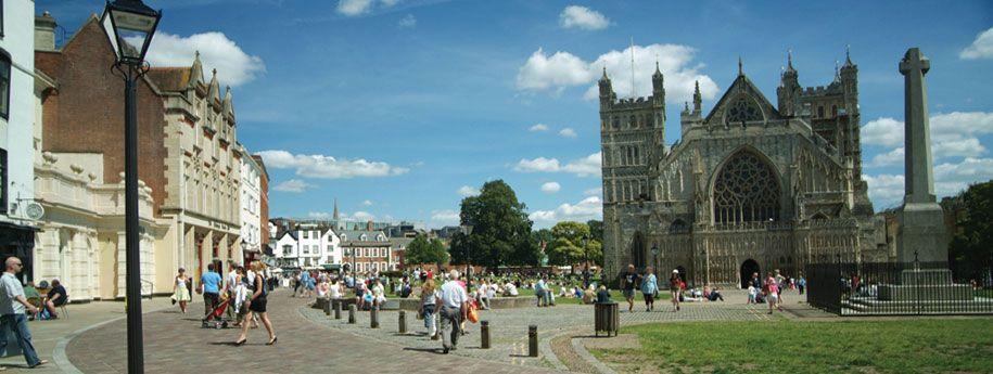 Exeter - Cathedral, Sprachreise nach England