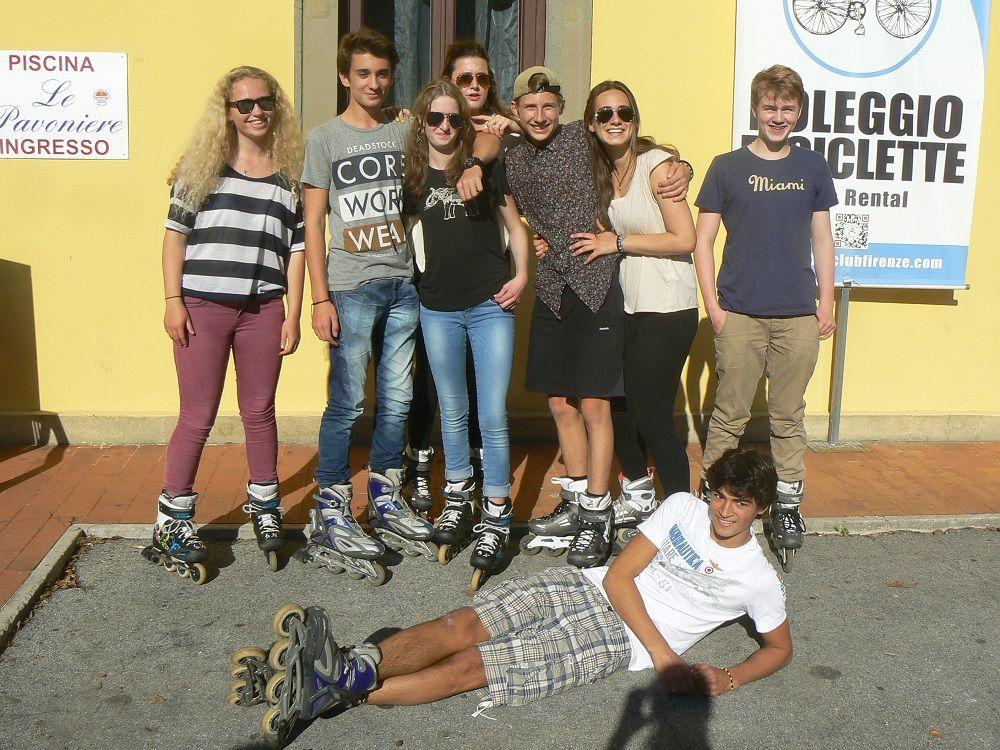 Studenten in Florenz - Italienisch lernen