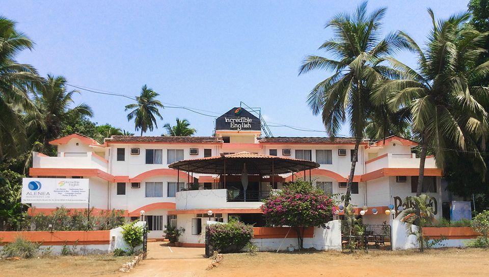 Englisch lernen in Indien Goa, Benaulim Schulgebäude