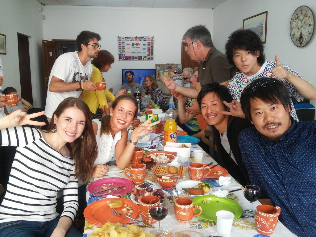 Studenten der Sprachschule in Porto
