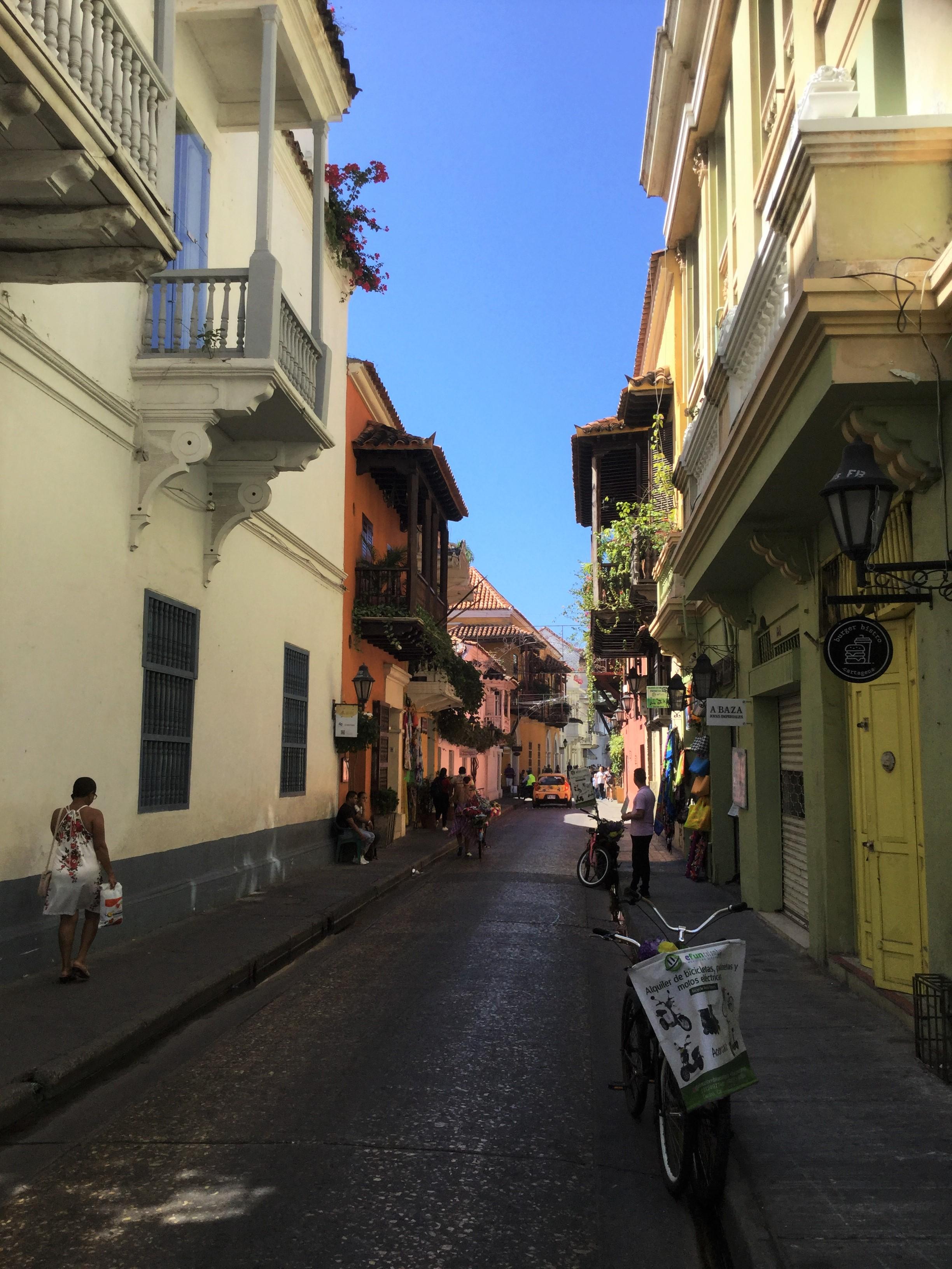 Cartagena Koloniale Altstadt der Oberen Gesellschaft mit typischen Balkonen