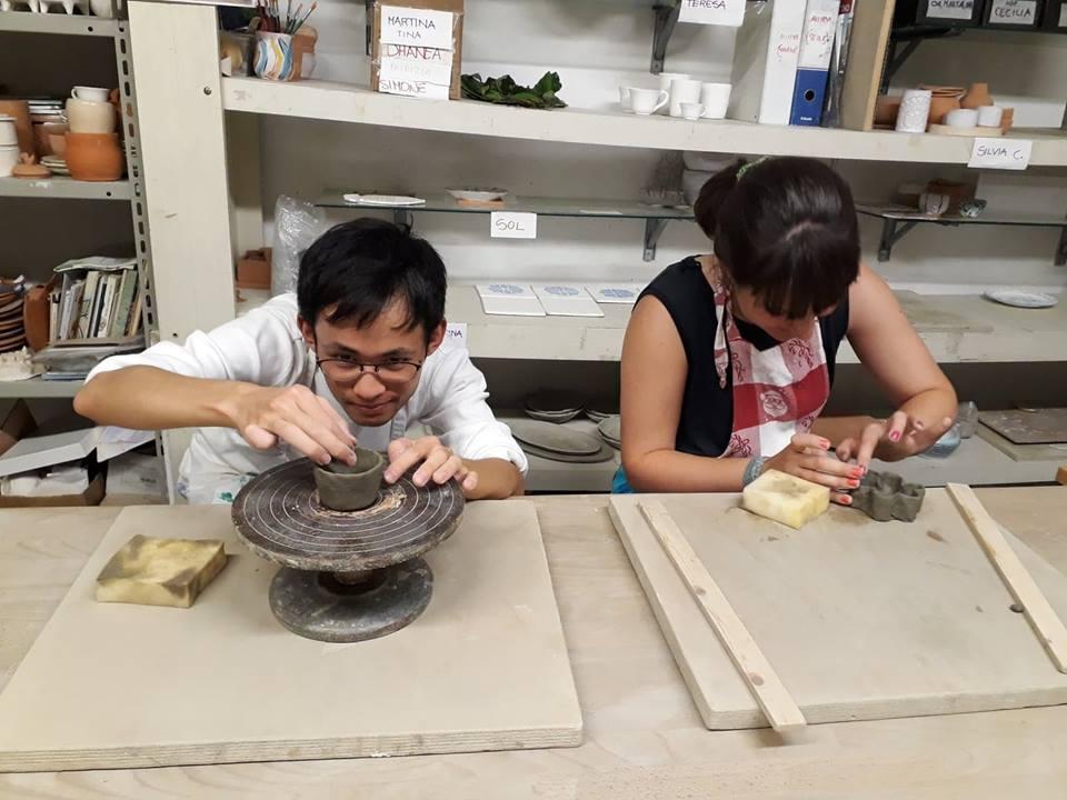 Keramikwerkstatt in Genua - Italienisch lernen