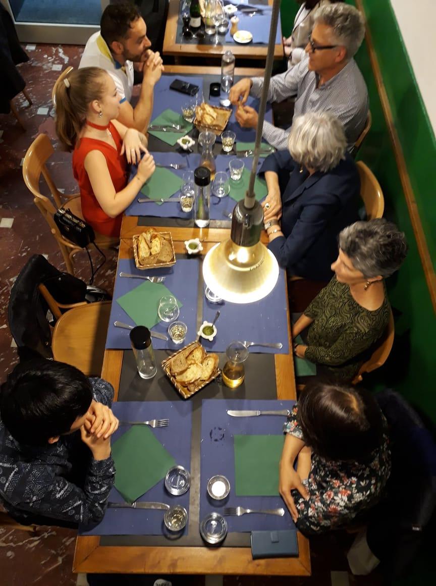 Abendessen in der Sprachschule in Genua - Italienisch lernen