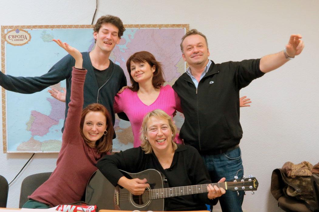 Gesangsclub auf Russish