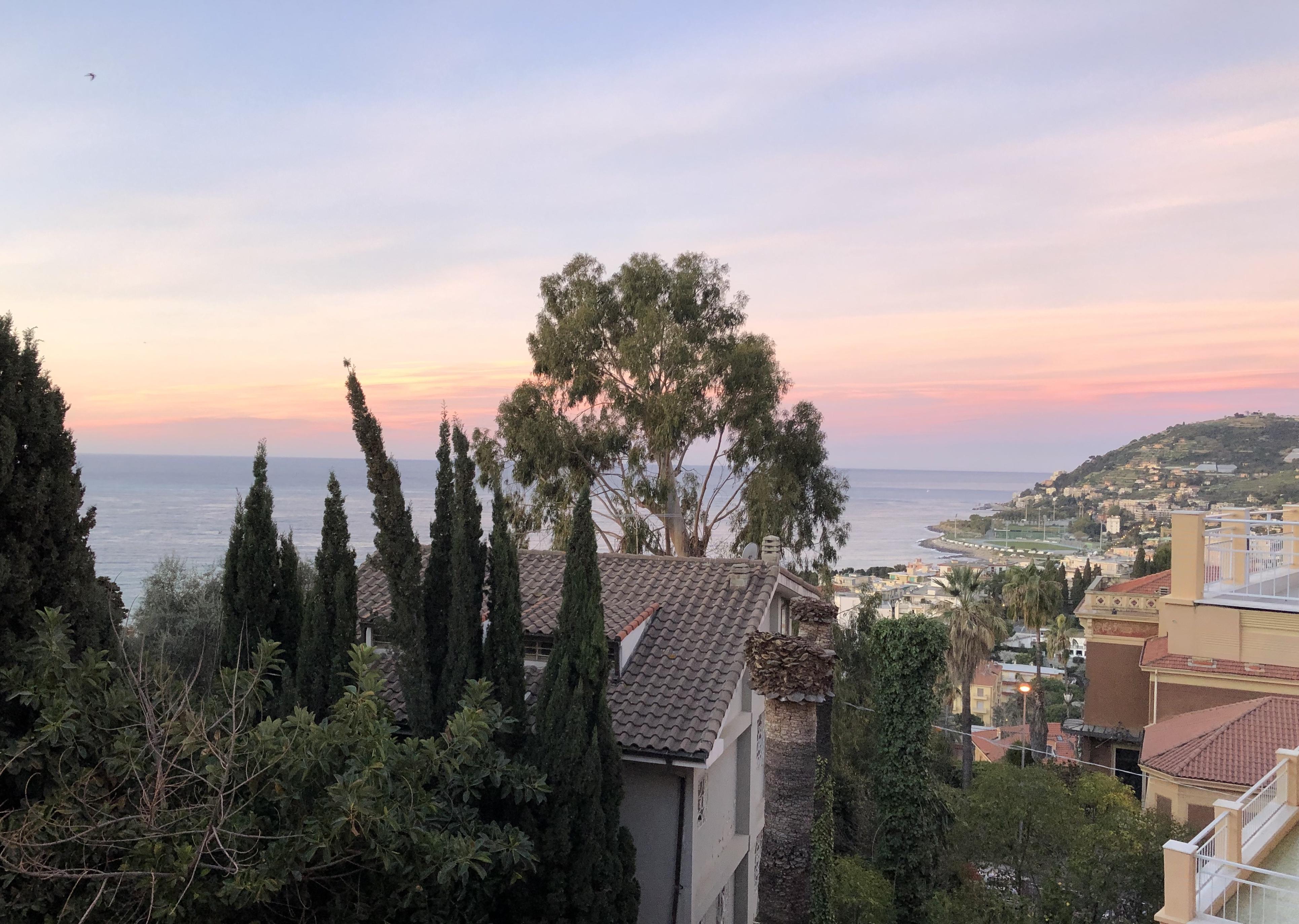 Sonnenuntergang in Sanremo