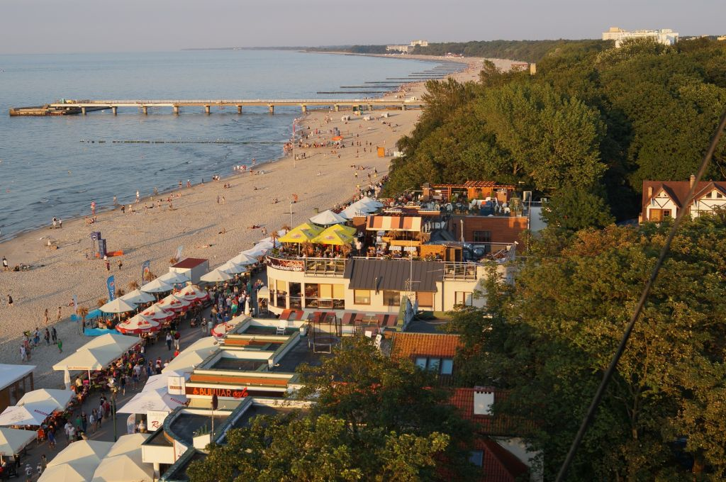 Der Strand in Kolberg, Polen, Ostsee
