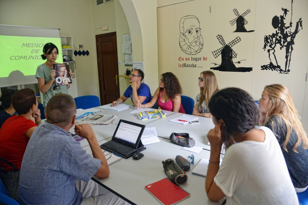 Studenten der Sprachschule in Malaga - Spanisch lernen