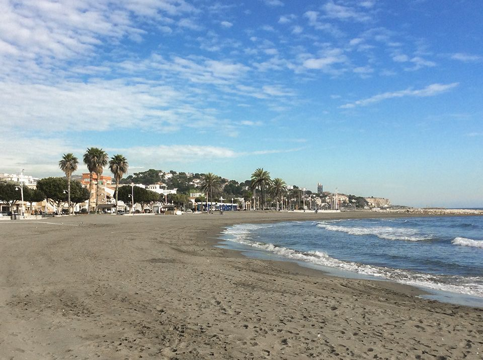 Spanisch lernen in Malaga - Strand von Pedregalejo