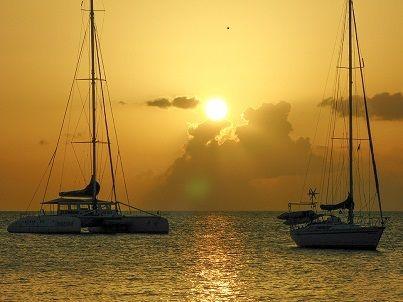 Französisch lernen auf Martinique - Sonnenuntergang