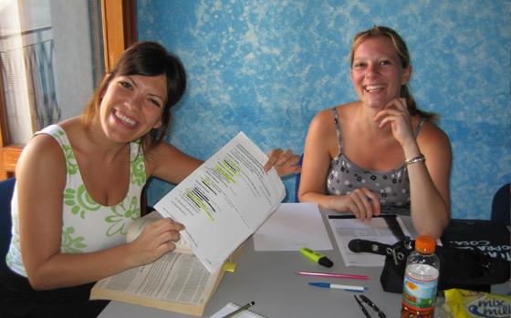 Studenten in Otranto - Italienisch Sprachreise