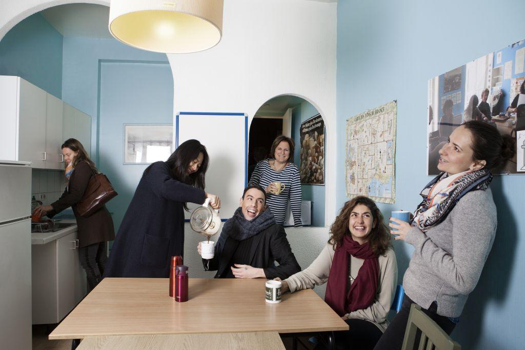 Die Küche der Schule in Paris