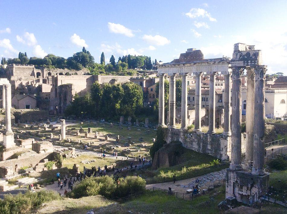 Italienisch lernen in Rom, Römerreste