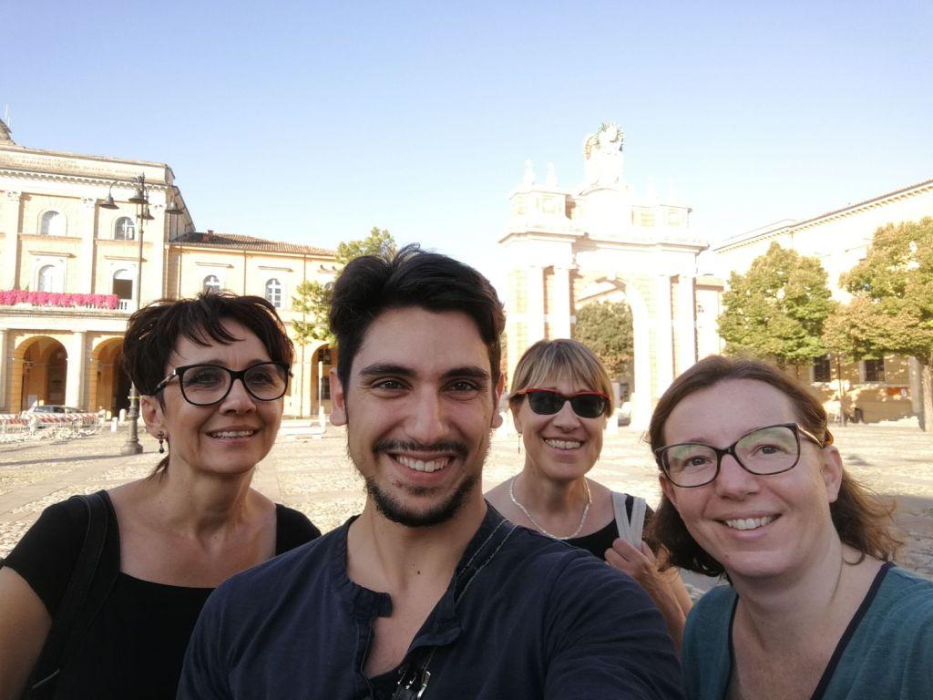 Studenten der Sprachschule in Rimini