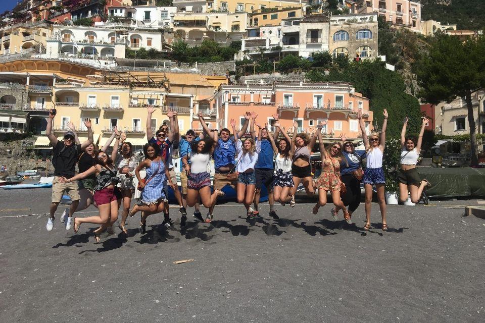 Studenten der Sprachschule in Sorrento