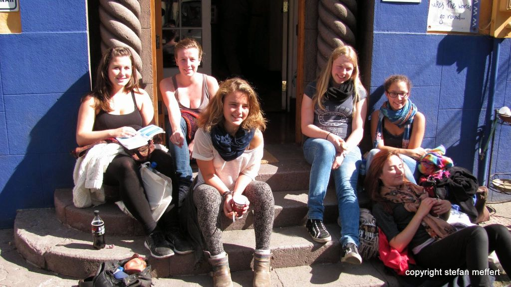 Studenten der Sprachschule in Santiago