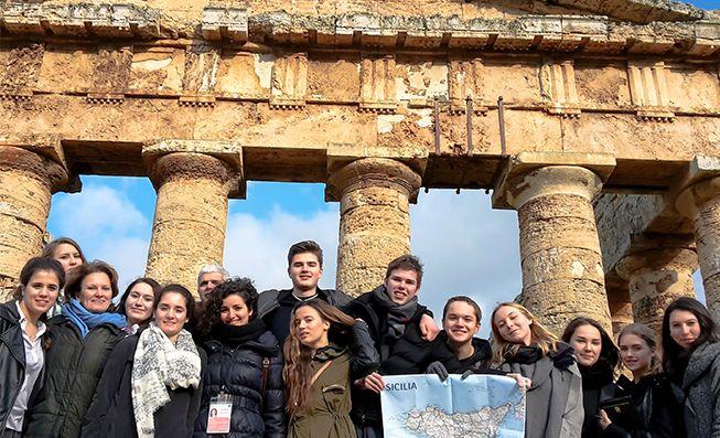 Ausflug mit der Sprachschule in Trapani - Italienisch lernen