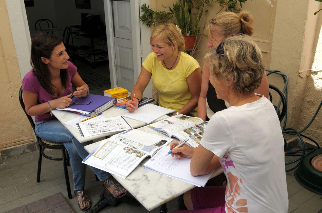 Studenten der Sprachschule in Tropea