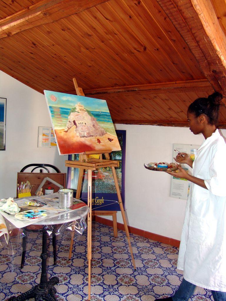 Malen - Aktivitäten mit der Sprachschule in Tropea