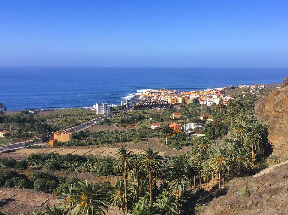 """Ortsteil """"Playa"""" Valle Gran Rey La Gomera Spanisch Unterricht"""