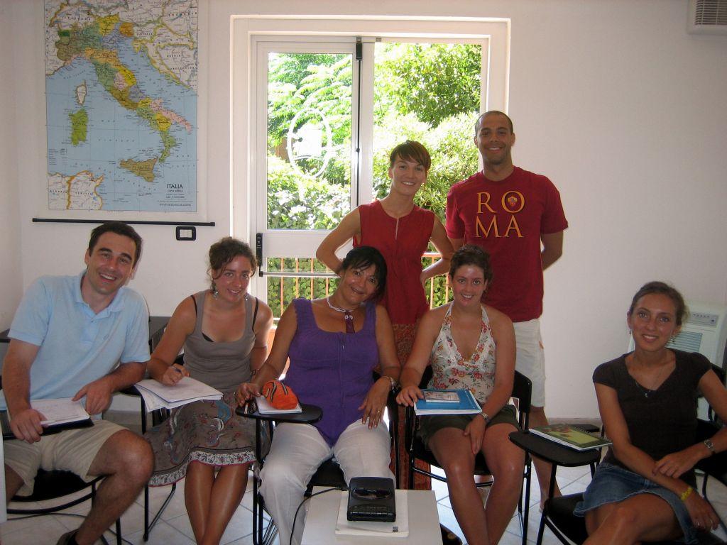 Studenten der Sprachschule in Toskana