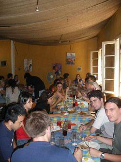 Gemeinsames Mittagessen mit den Teilnehmern und Lehrkräften