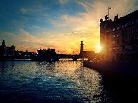Stockholm - Sonnenuntergang - Swedisch lernen
